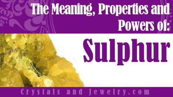 Sulphur (Сульфур) Сера: значения, свойства и описание